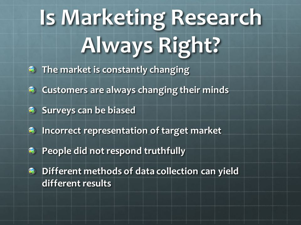 Is Marketing Research Always Right