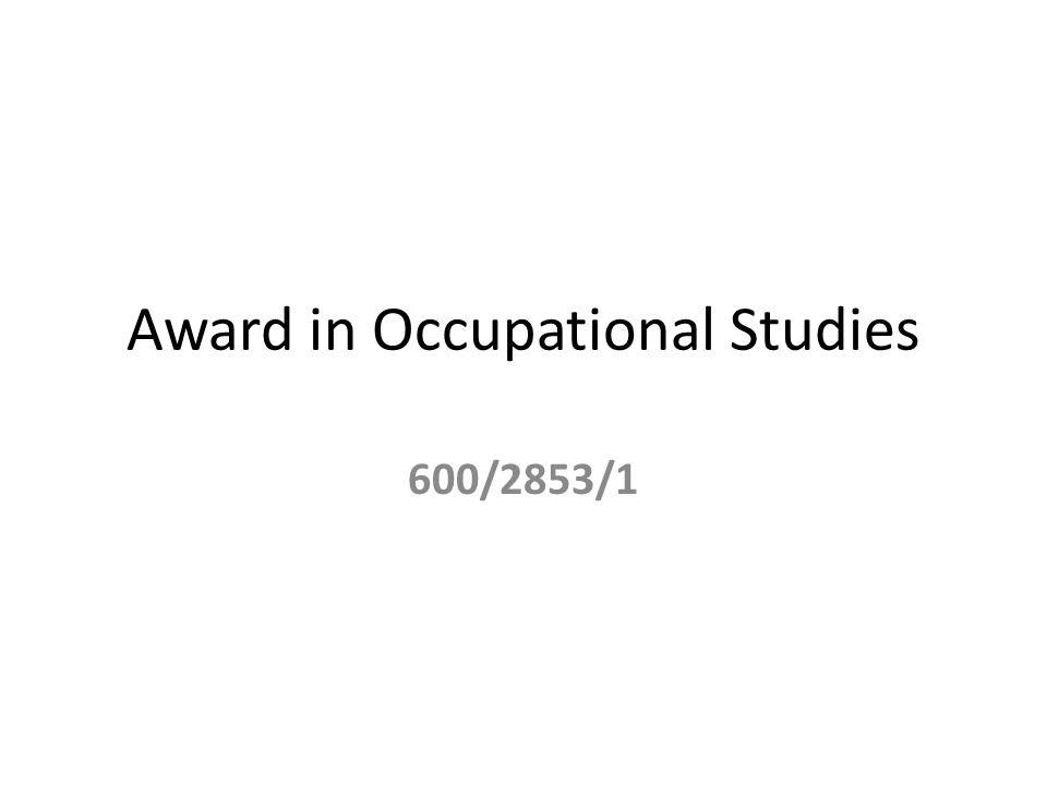 Award in Occupational Studies