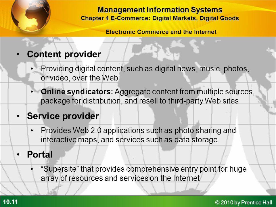 Content provider Service provider Portal