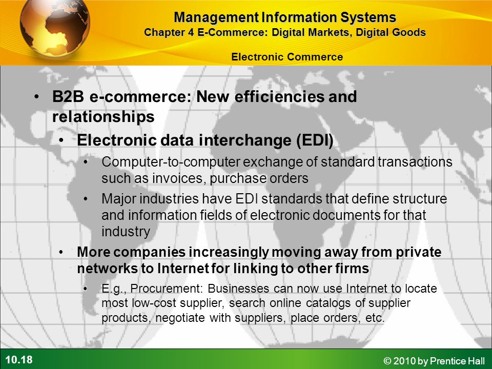 B2B e-commerce: New efficiencies and relationships