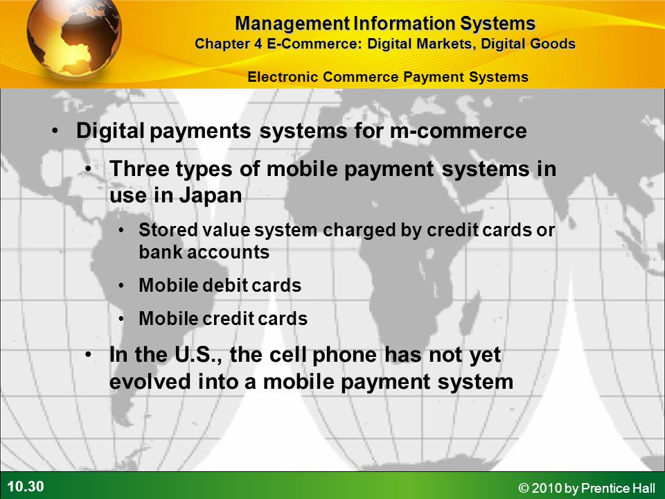 Digital payments systems for m-commerce