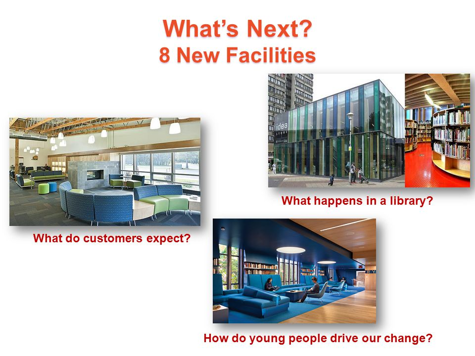 What's Next 8 New Facilities