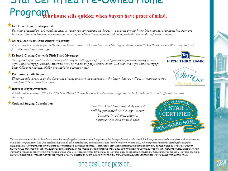 Star Certified Pre-Owned Home Program