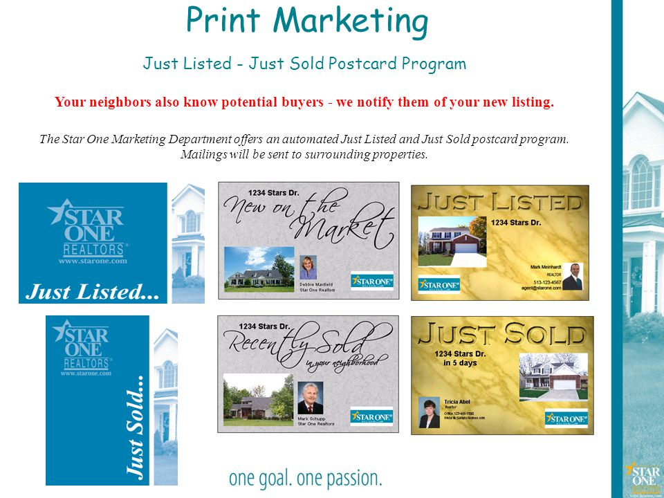 Just Listed - Just Sold Postcard Program