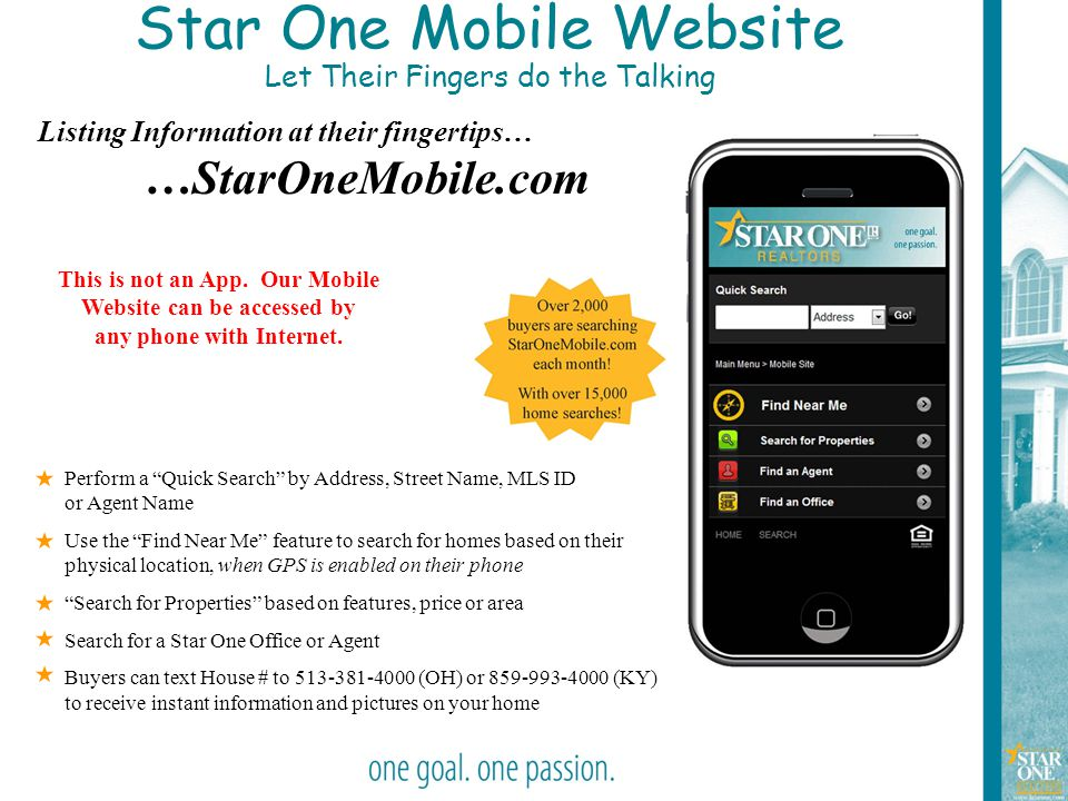 Star One Mobile Website