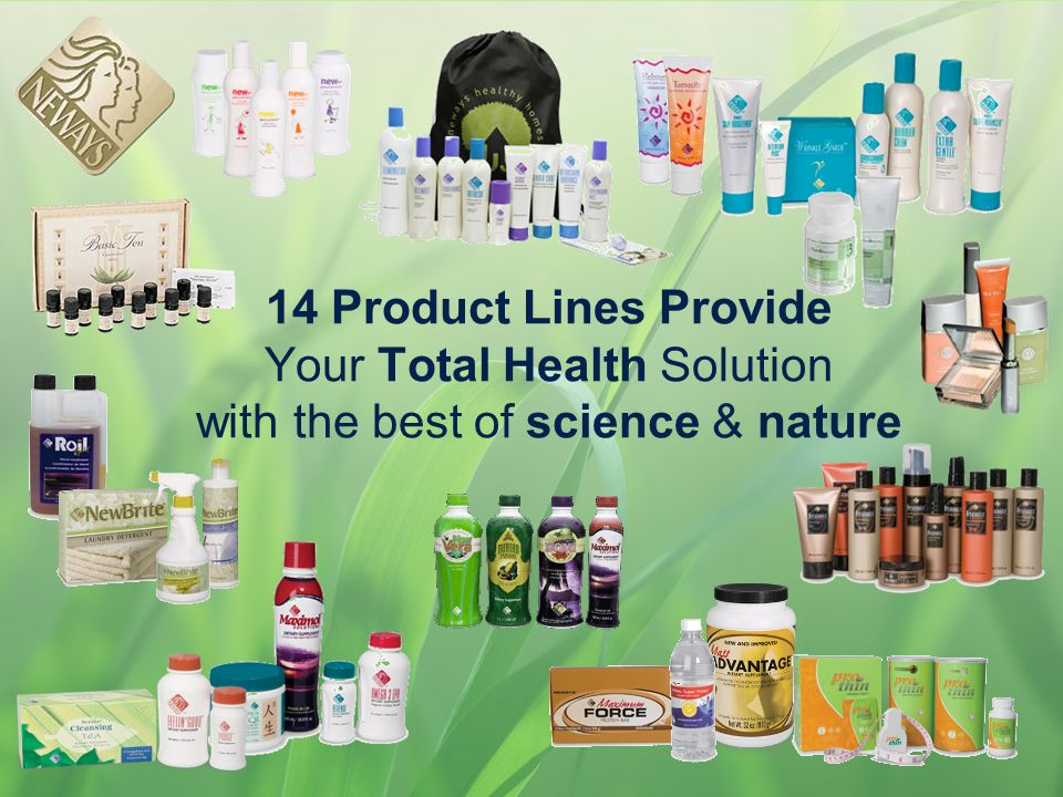 14 Product Lines Provide Your Total Health Solution with the best of science & nature