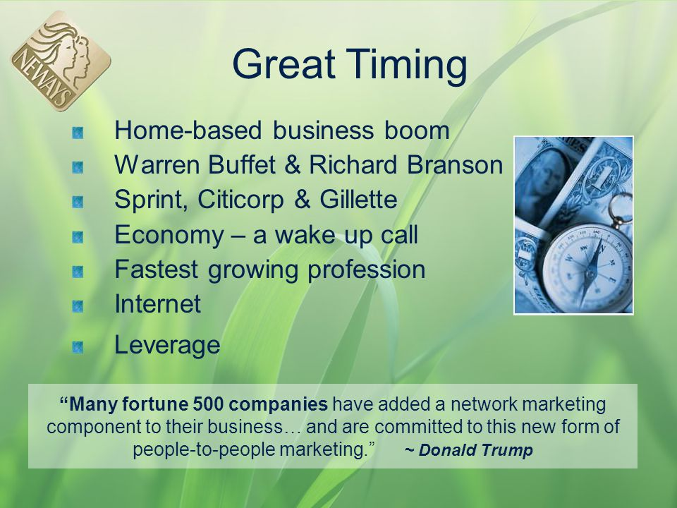 Great Timing Home-based business boom Warren Buffet & Richard Branson