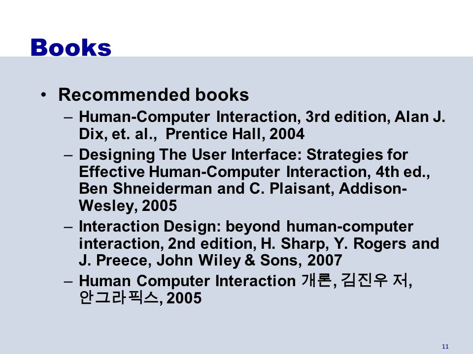 Books Recommended books