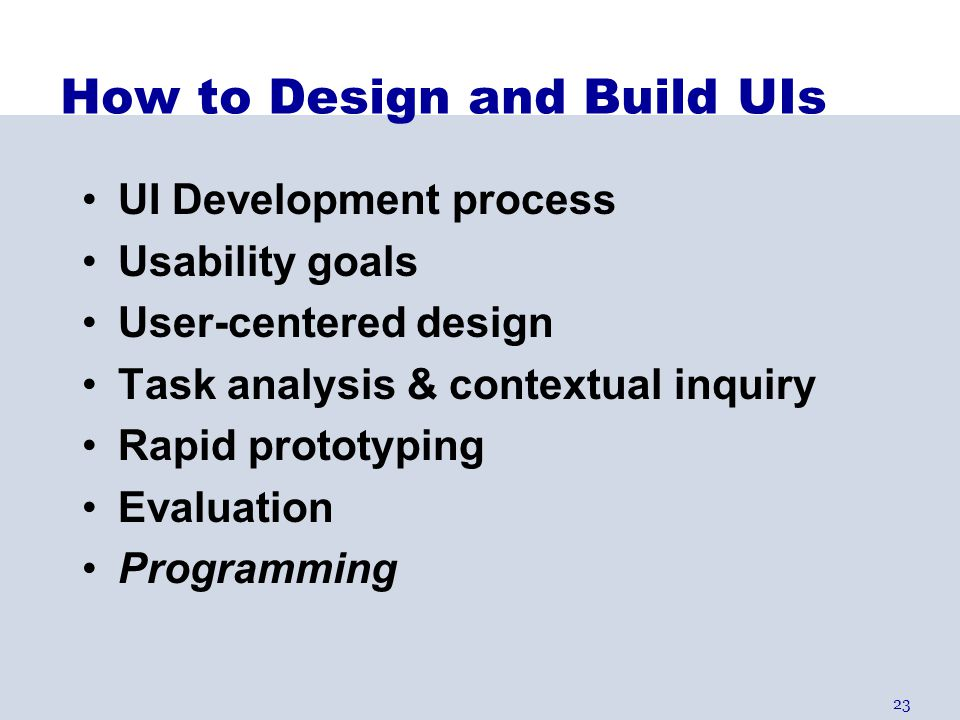 How to Design and Build UIs