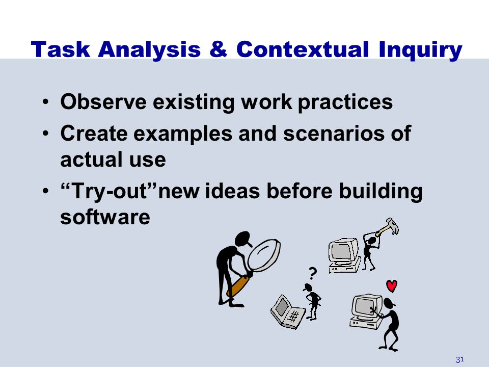 Task Analysis & Contextual Inquiry