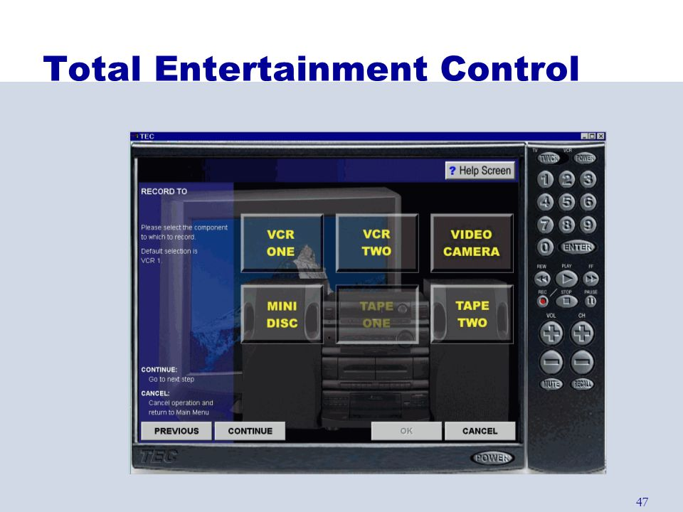 Total Entertainment Control