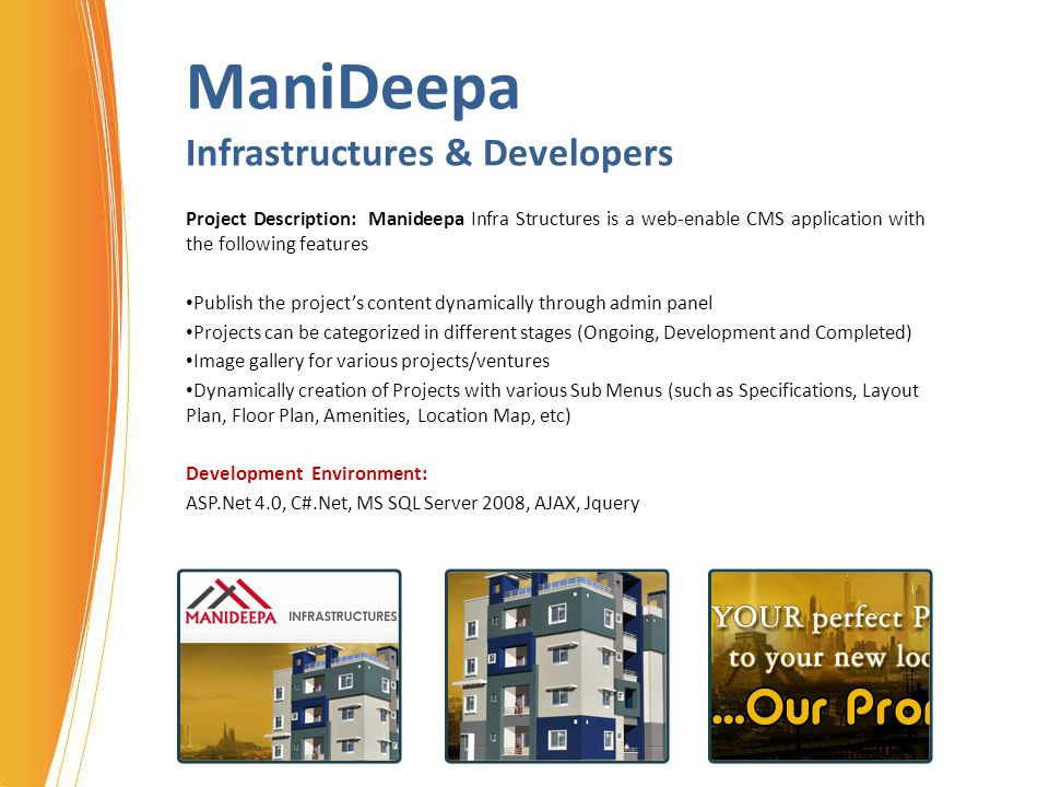 ManiDeepa Infrastructures & Developers