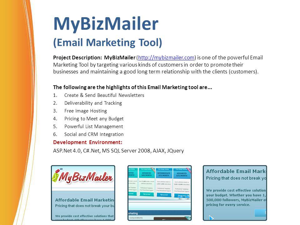 MyBizMailer (Email Marketing Tool)
