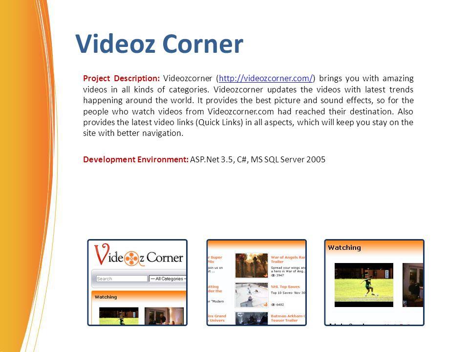 Videoz Corner
