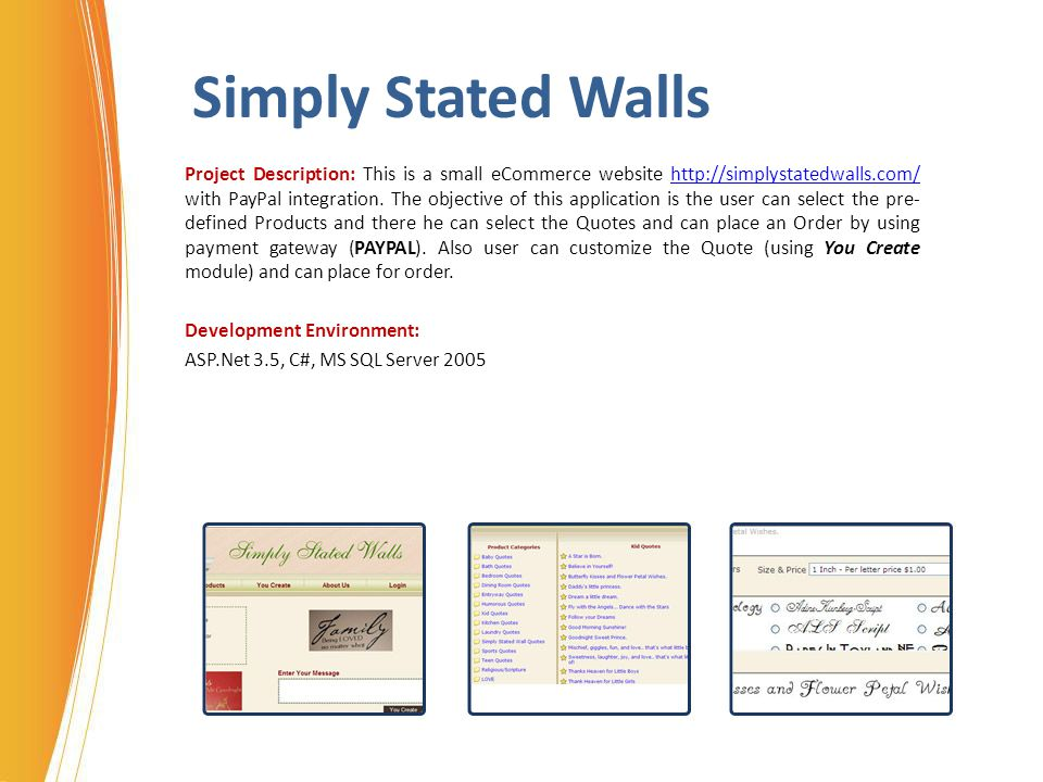 Simply Stated Walls