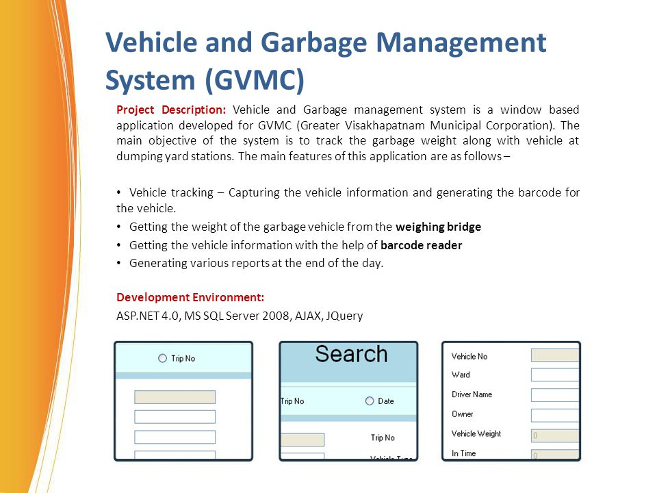 Vehicle and Garbage Management System (GVMC)