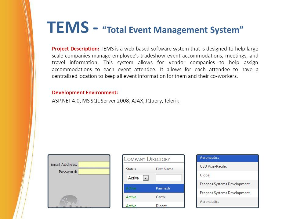 TEMS - Total Event Management System