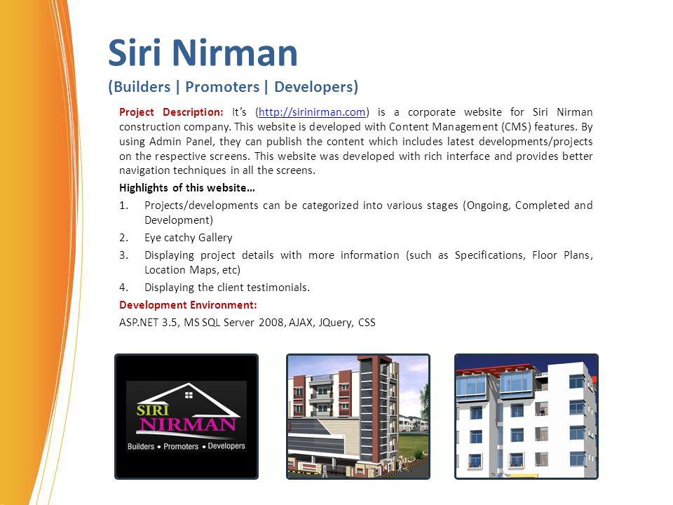 Siri Nirman (Builders | Promoters | Developers)