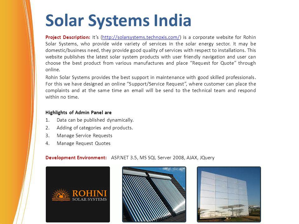 Solar Systems India