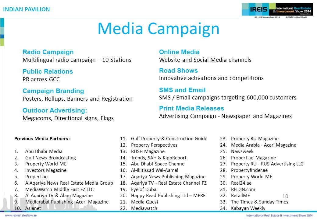 Media Campaign INDIAN PAVILION Radio Campaign