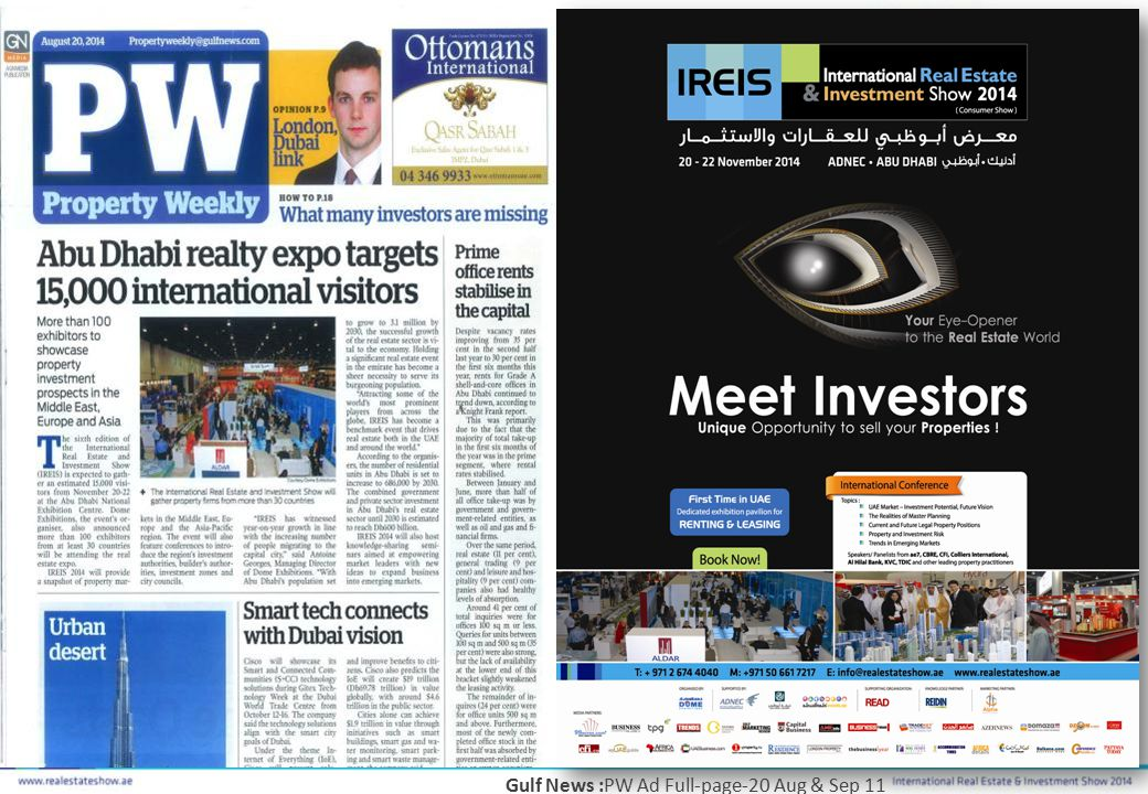 Gulf News :PW Ad Full-page-20 Aug & Sep 11