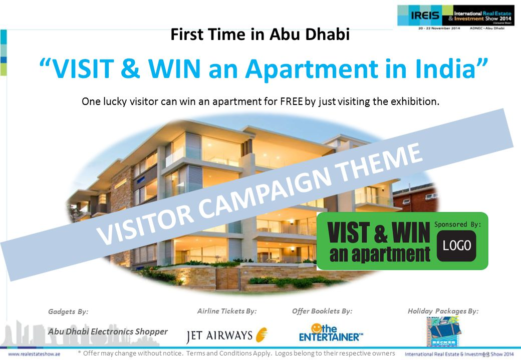VISIT & WIN an Apartment in India VISITOR CAMPAIGN THEME