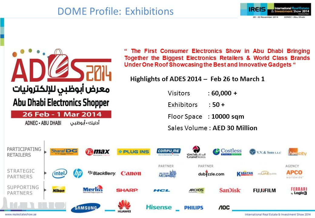 Highlights of ADES 2014 – Feb 26 to March 1
