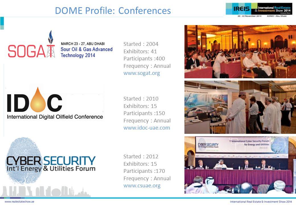 DOME Profile: Conferences