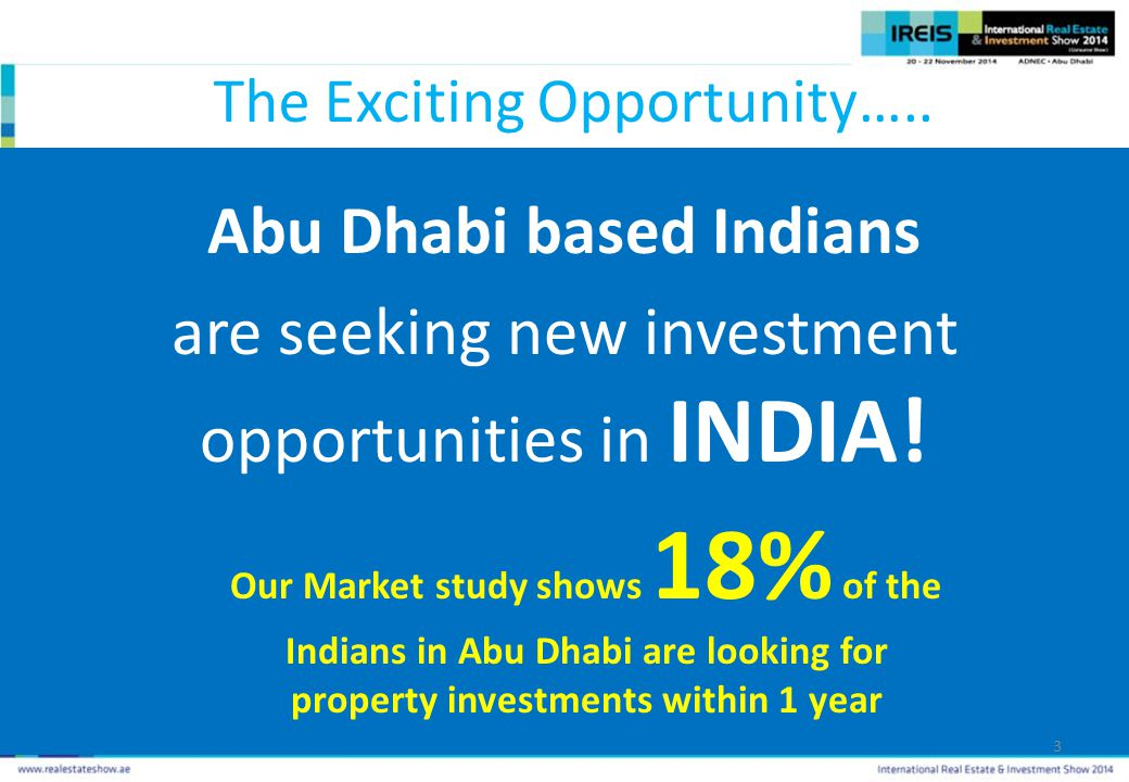 The Exciting Opportunity…..