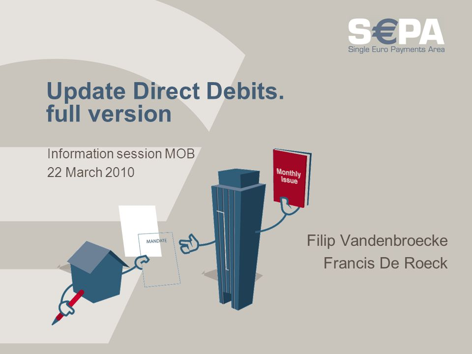 Update Direct Debits. full version