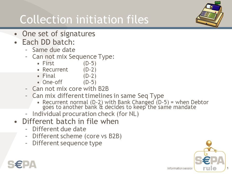 Collection initiation files