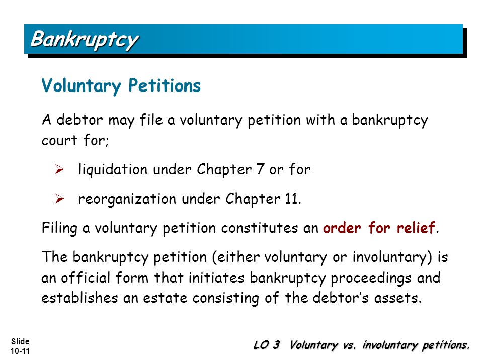 Bankruptcy Voluntary Petitions