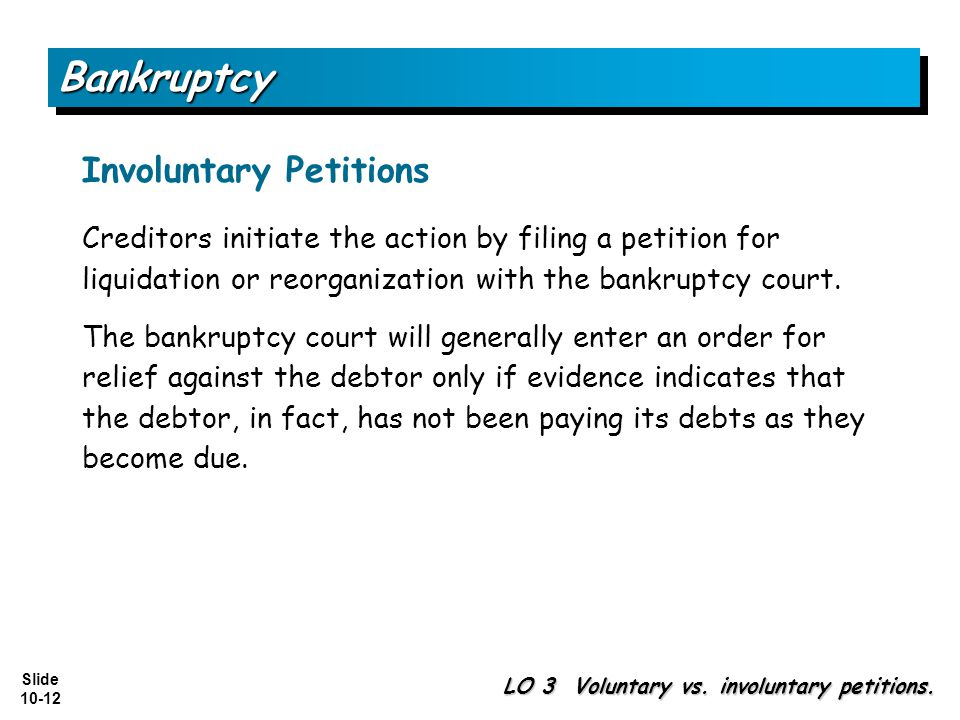 Bankruptcy Involuntary Petitions