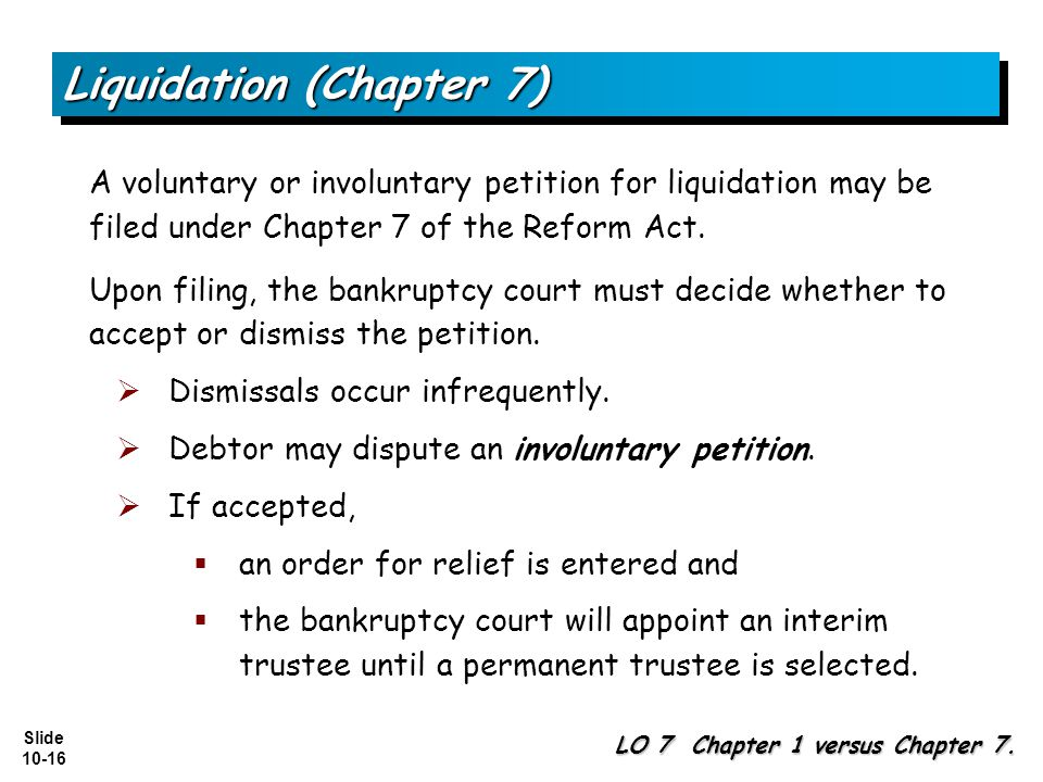 Liquidation (Chapter 7)