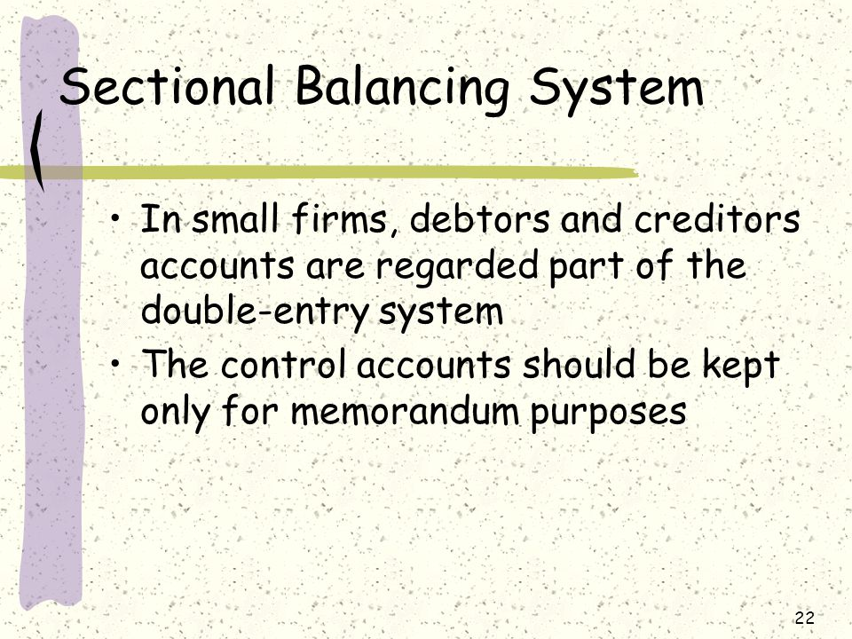 Sectional Balancing System