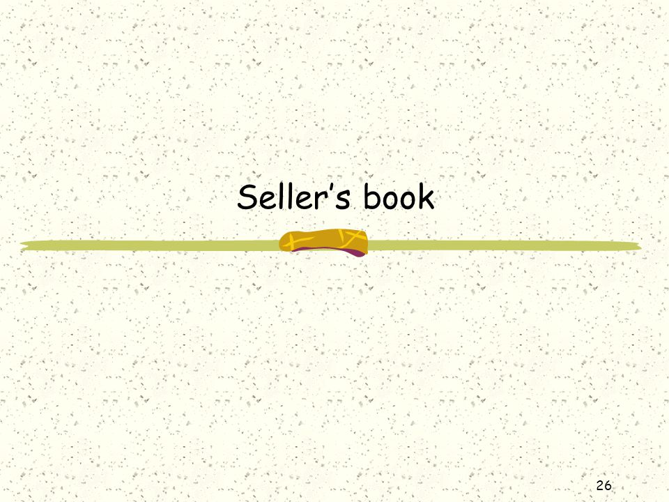 Seller's book
