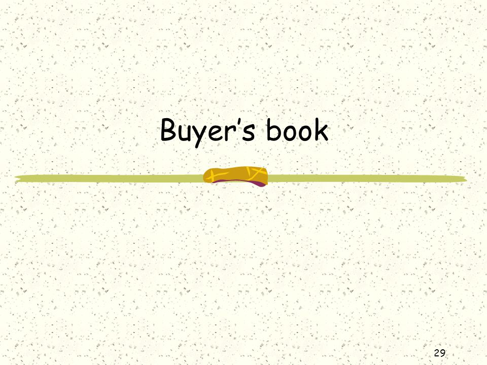 Buyer's book