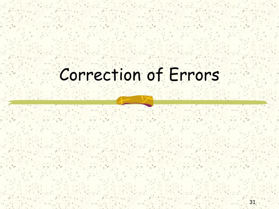 Correction of Errors