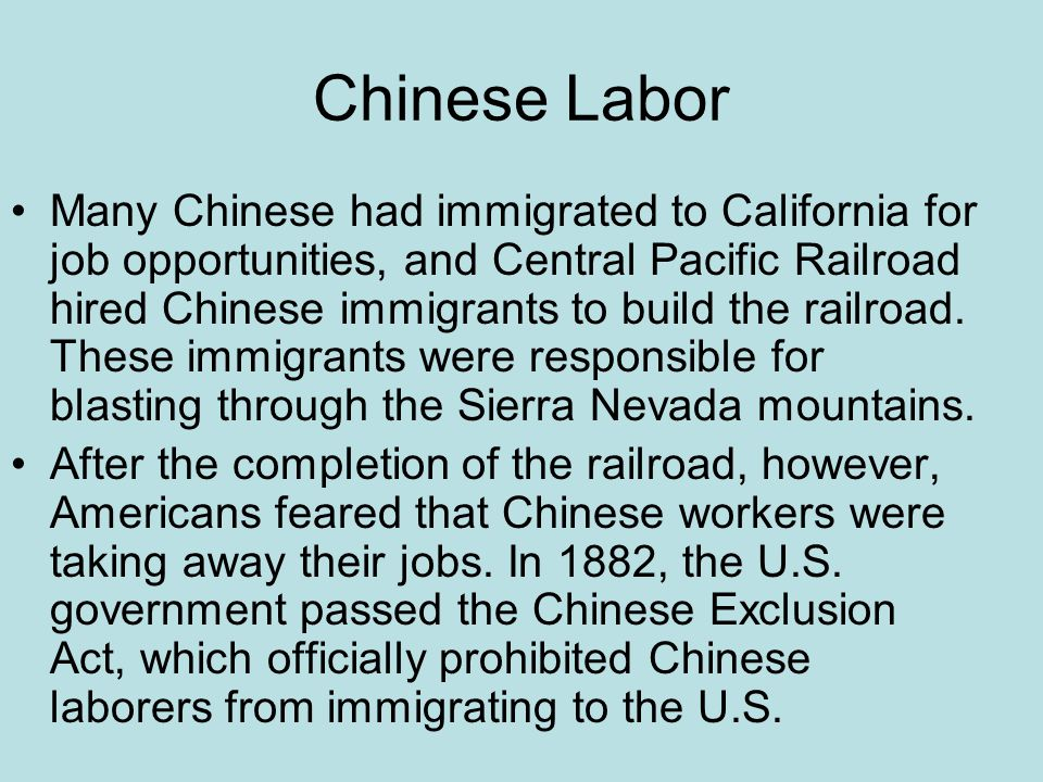 Chinese Labor
