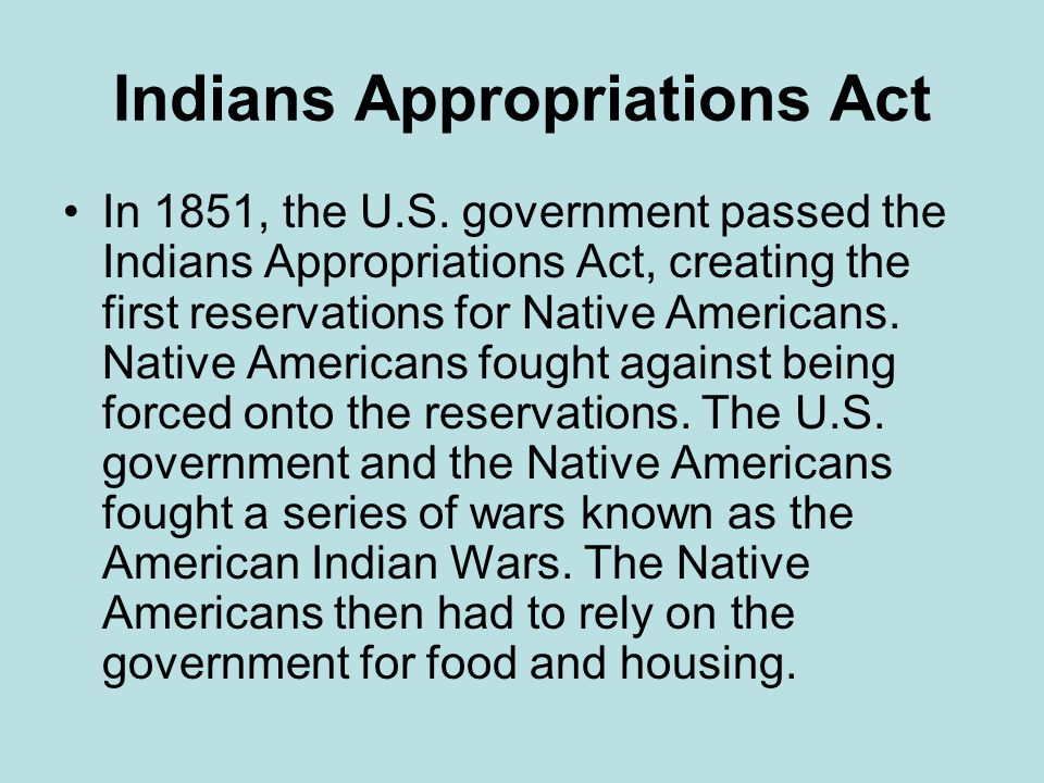 Indians Appropriations Act