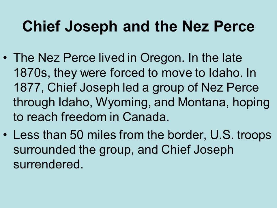 Chief Joseph and the Nez Perce
