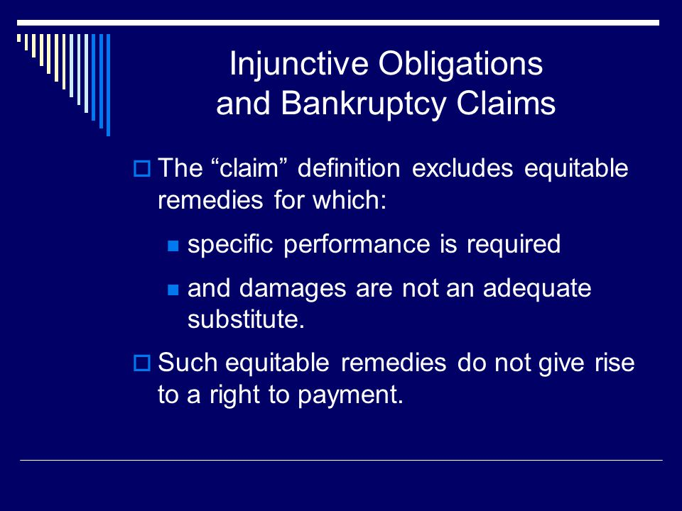 Injunctive Obligations and Bankruptcy Claims