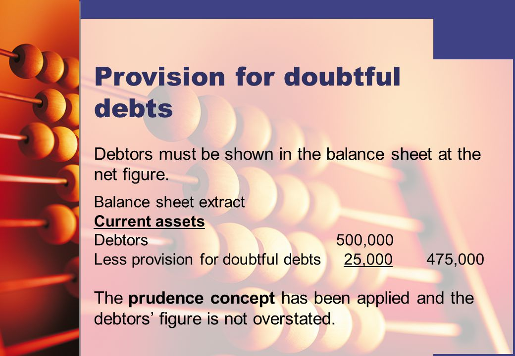 Provision for doubtful debts
