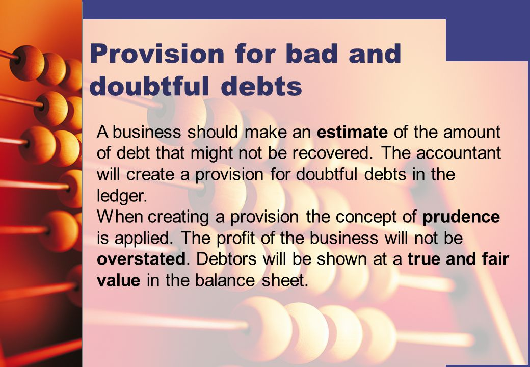 Provision for bad and doubtful debts