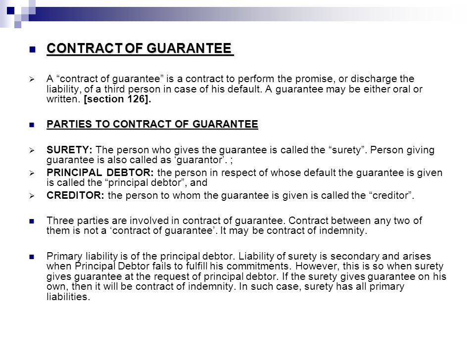 Difference between Indemnity, Guarantee and Warranty ...