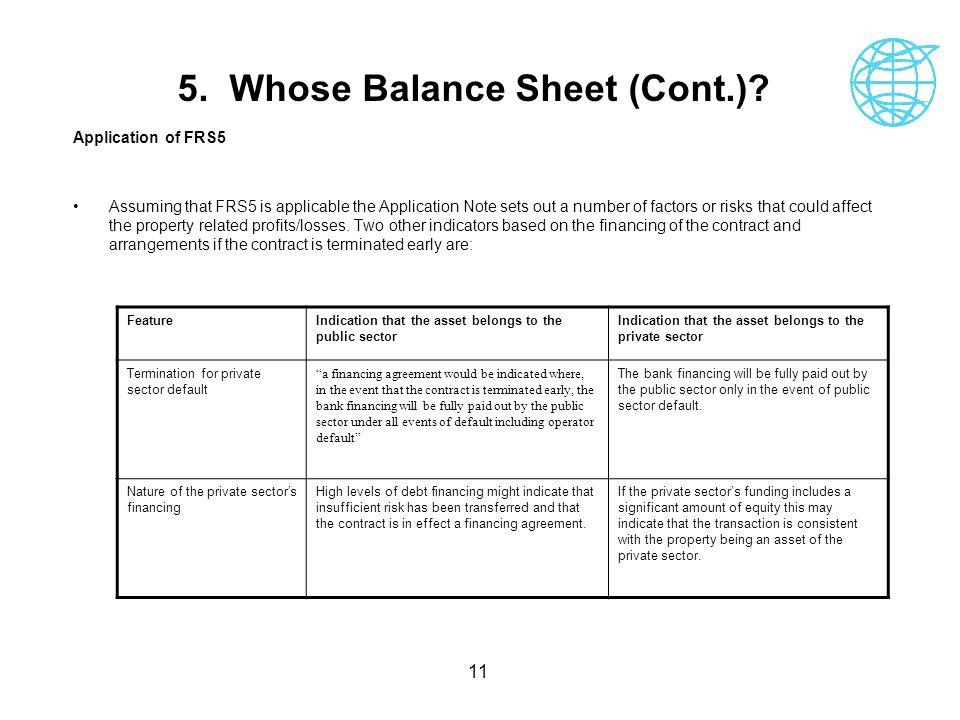 5. Whose Balance Sheet (Cont.)