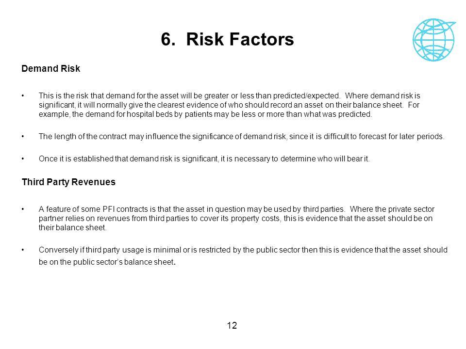 6. Risk Factors Demand Risk Third Party Revenues