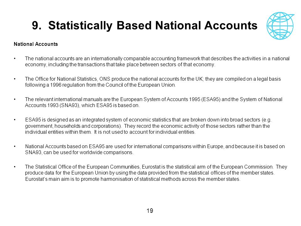 9. Statistically Based National Accounts