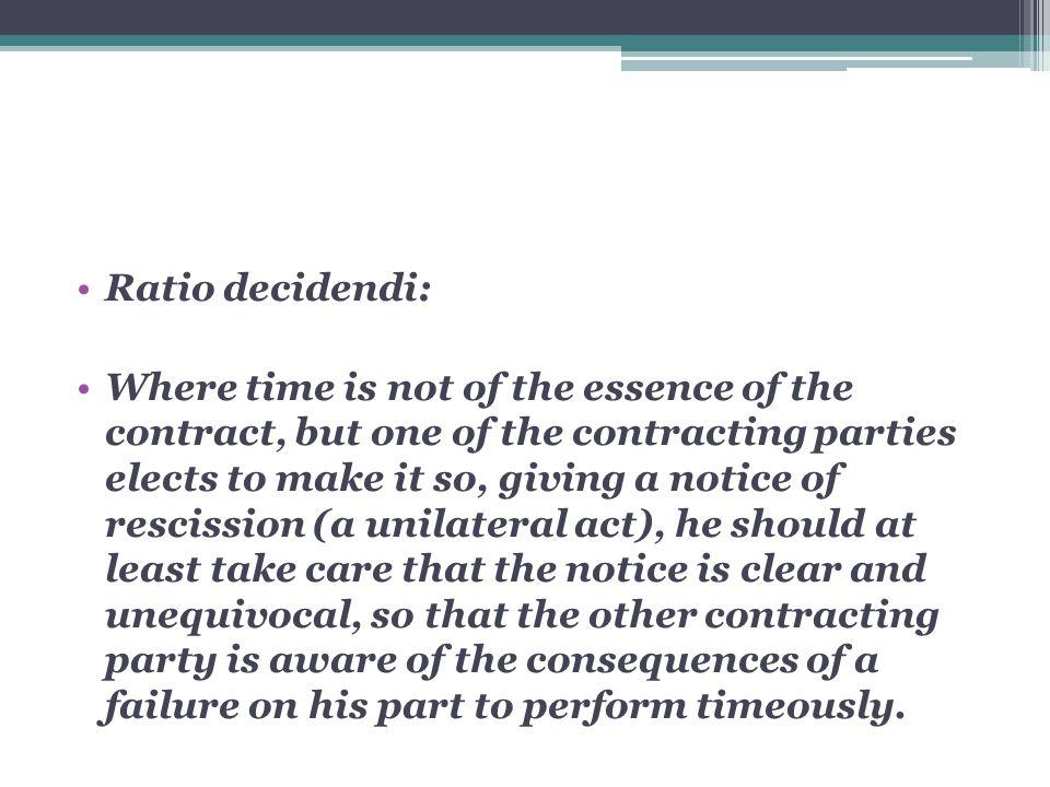 Ratio decidendi: