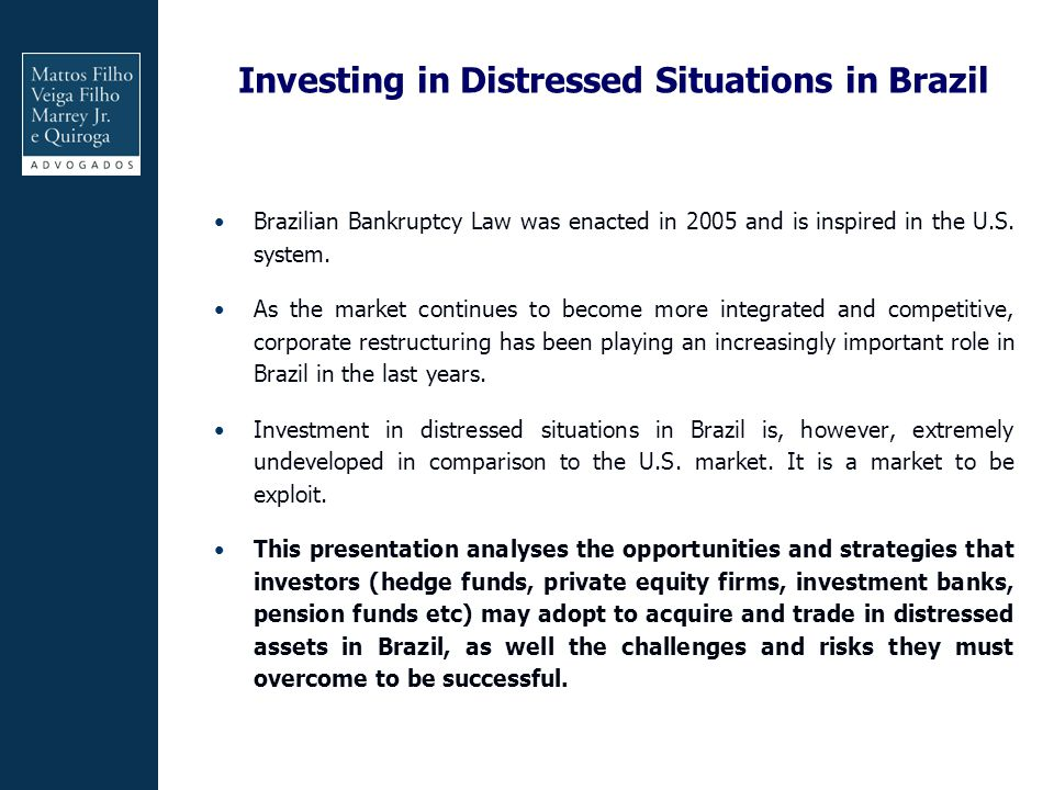 Investing in Distressed Situations in Brazil